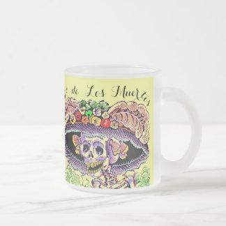 Dia de Los Muertos Day of the Dead frosty Mug