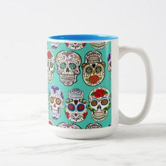 Dia de los Muertos (Day of the Dead) Two-Tone Coffee Mug