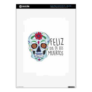 Dia De Los Muertos Decal For iPad 3