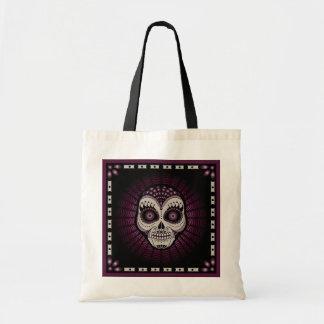 Dia de los Muertos decorative spiderweb skull Tote Bag