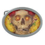 Día de los muertos - Dia de los Muertos Hebillas De Cinturón Ovales