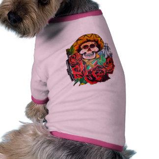 dia de los muertos doggie shirt