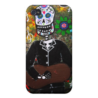 Dia de los Muertos Esqueleto iPhone 4 Cases