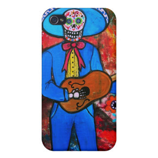 Dia de los Muertos Esqueleto Cover For iPhone 4