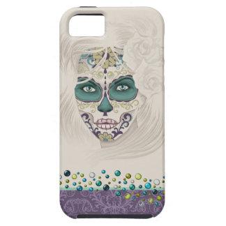 Dia de Los Muertos Face iPhone 5 Carcasas