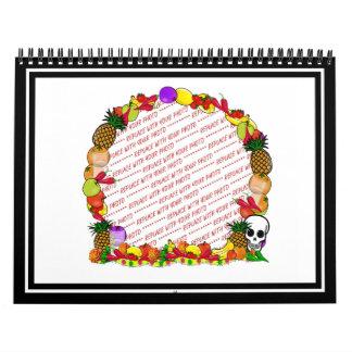 Dia De Los Muertos Fruity Photo Frame Calendars