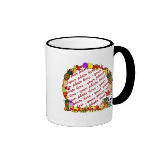 Dia De Los Muertos Fruity Photo Frame Ringer Coffee Mug
