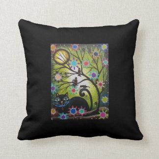 Día de los muertos, gato, almohadas de Lorri Cojín Decorativo