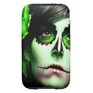 Dia de los Muertos hace frente a # 2 Tough iPhone 3 Cárcasa