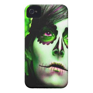 Dia de los Muertos hace frente a # 2 iPhone 4 Case-Mate Cobertura