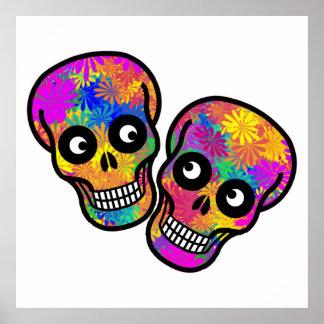 Dia De Los Muertos - Happy Couple Poster