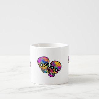Dia De Los Muertos Happy Couple Espresso Cups