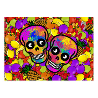 Dia De Los Muertos - Happy Couple W/Fruit Business Card