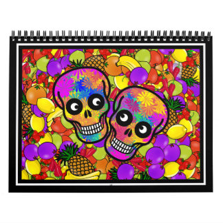 Dia De Los Muertos - Happy Couple W/Fruit Wall Calendar