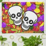 Dia De Los Muertos - Happy Couple W/Fruit Kitchen Towels