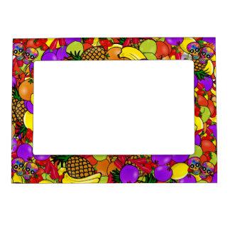 Dia De Los Muertos - Happy Couple W/Fruit Magnetic Picture Frame