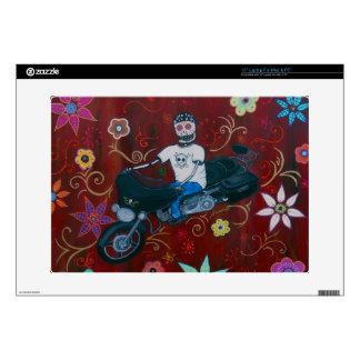 Dia de los Muertos Harley Biker Skin For Laptop