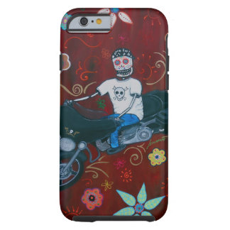 Dia de los Muertos Harley Biker Tough iPhone 6 Case