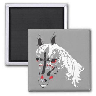dia de los muertos horse 2 inch square magnet