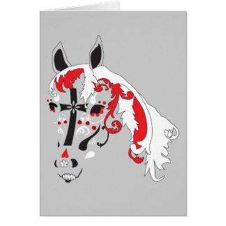 dia de los muertos horse card