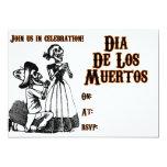 Día de los muertos invitación 12,7 x 17,8 cm
