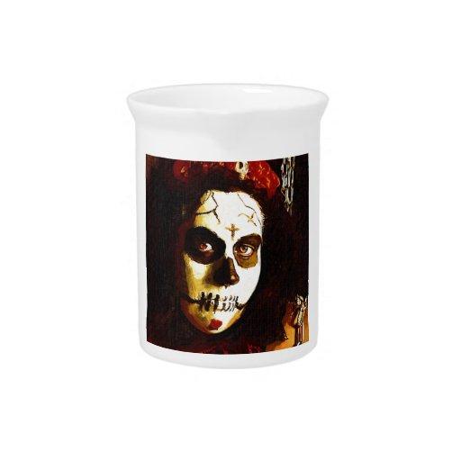 Día de los muertos jarra para bebida