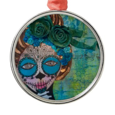 Halloween Themed dia de los muertos.jpg metal ornament
