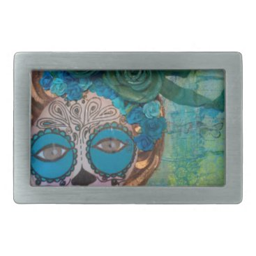 Halloween Themed dia de los muertos.jpg rectangular belt buckle