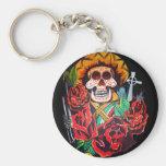dia de los muertos key chain