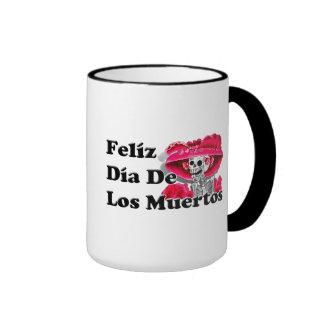 Dia De Los Muertos (La Catrina) Ringer Coffee Mug