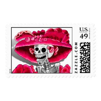 Dia De Los Muertos (La Catrina) Postage Stamp