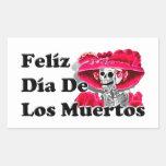 Dia De Los Muertos (La Catrina) Rectangular Sticker