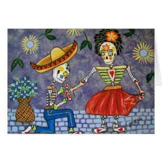 Día de los muertos la fecha Notecard del boda de Tarjeta Pequeña
