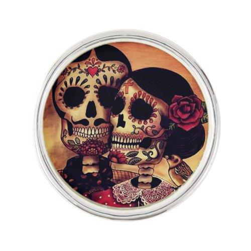 Dia De Los Muertos Lapel Pin