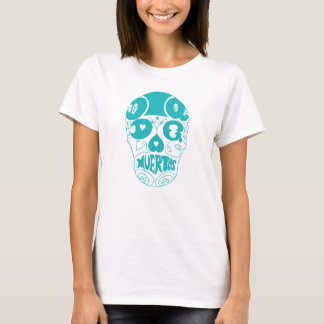 Dia de los Muertos light blue typography Skull T-Shirt