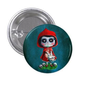 Dia de los Muertos Little Red Riding Hood Button