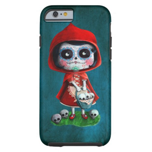 Dia de los Muertos Little Red Riding Hood Phone Case