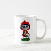 artsprojekt, fairy tale, halloween, red riding hood, dia de los muertos, sugar skull, day of the dead, la catrina, little red riding hood, fairytale, horror, skulls, dia de muertos, scary, catrina, calavera, gothic, spooky fairy tale, mexican fairy tale, fairy tale gift, halloween gift, halloween present, fairy tale present, red riding hood gift, red riding hood present, the day of the dead, children stories, folk tales, mexican day of the dead, day of the dead skulls, day of the dead mask, day of the dead mugs, Mug with custom graphic design