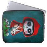 Dia de los Muertos Little Red Riding Hood Laptop Sleeve