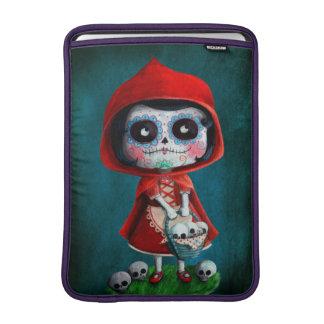 Dia de los Muertos Little Red Riding Hood MacBook Sleeves