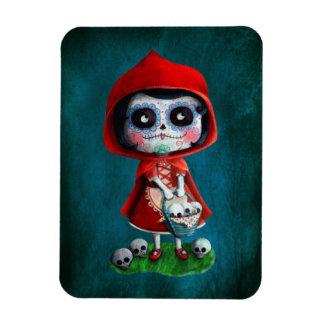 Dia de los Muertos Little Red Riding Hood Magnet