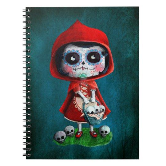 Dia de los Muertos Little Red Riding Hood Notebook