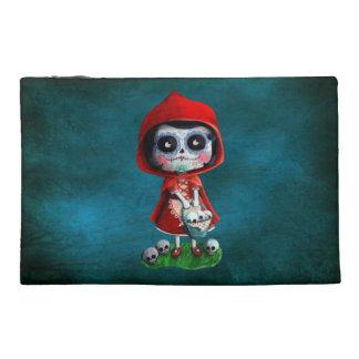 Dia de los Muertos Little Red Riding Hood Travel Accessory Bags