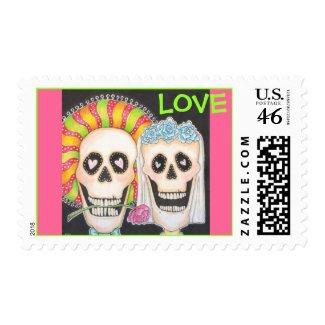 Dia De Los Muertos LOVE stamp stamp