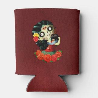 Dia de Los Muertos Lovely Mexican Catrina Girl Can Cooler