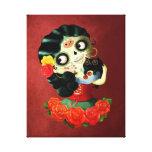 Dia de Los Muertos Lovely Mexican Catrina Girl Canvas Print