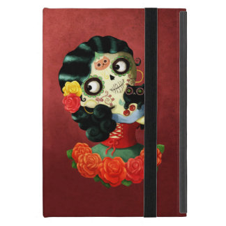 Dia de Los Muertos Lovely Mexican Catrina Girl iPad Mini Cover