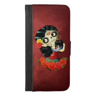 Dia de Los Muertos Lovely Mexican Catrina Girl iPhone 6/6s Plus Wallet Case