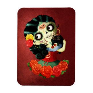 Dia de Los Muertos Lovely Mexican Catrina Girl Magnet