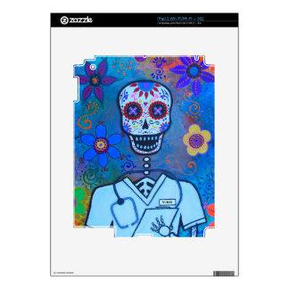 DIA DE LOS MUERTOS MALE NURSE SKIN FOR iPad 2